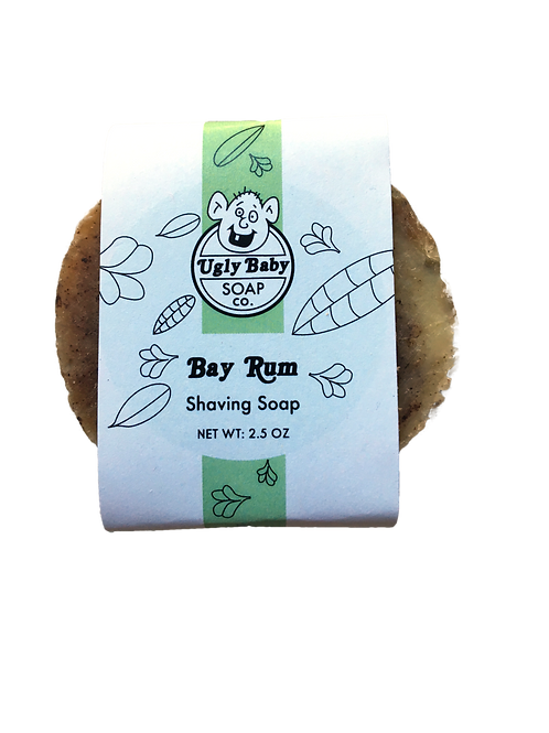 Bay Rum Shaving Soap, Ugly Baby Soap Co.
