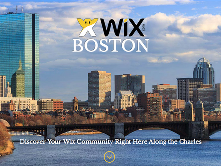 Wix Boston Area User Meet Up (And More)!