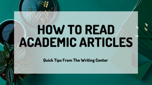 How To Read Academic Articles