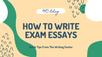 How To Write Exam Essays