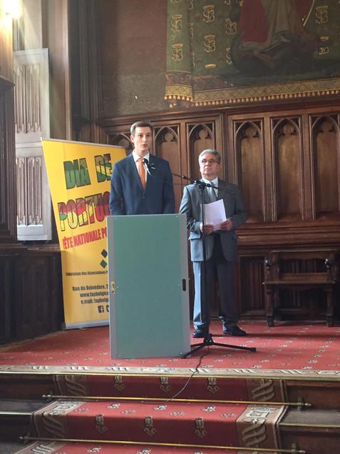 Mr Antoine Umbrain salue la communauté portugaise de Belgique