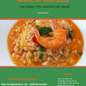 """Gastronomie portugaise: """"Arroz de Marisco"""" le 27 janvier 2019 chez l'association portu"""