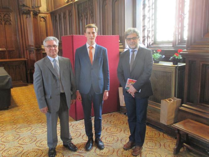Messieurs Antonio Gomes, Antoine Umbrain et Carlos Morais