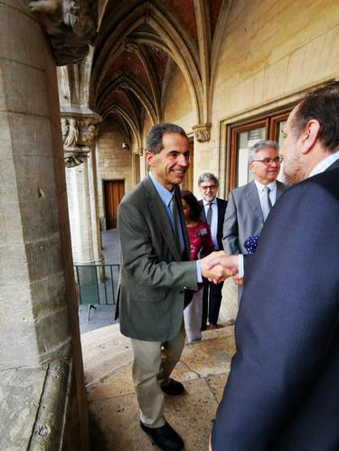 Monsieur le ministre est reçu à l'Hôtel de Ville de Bruxelles