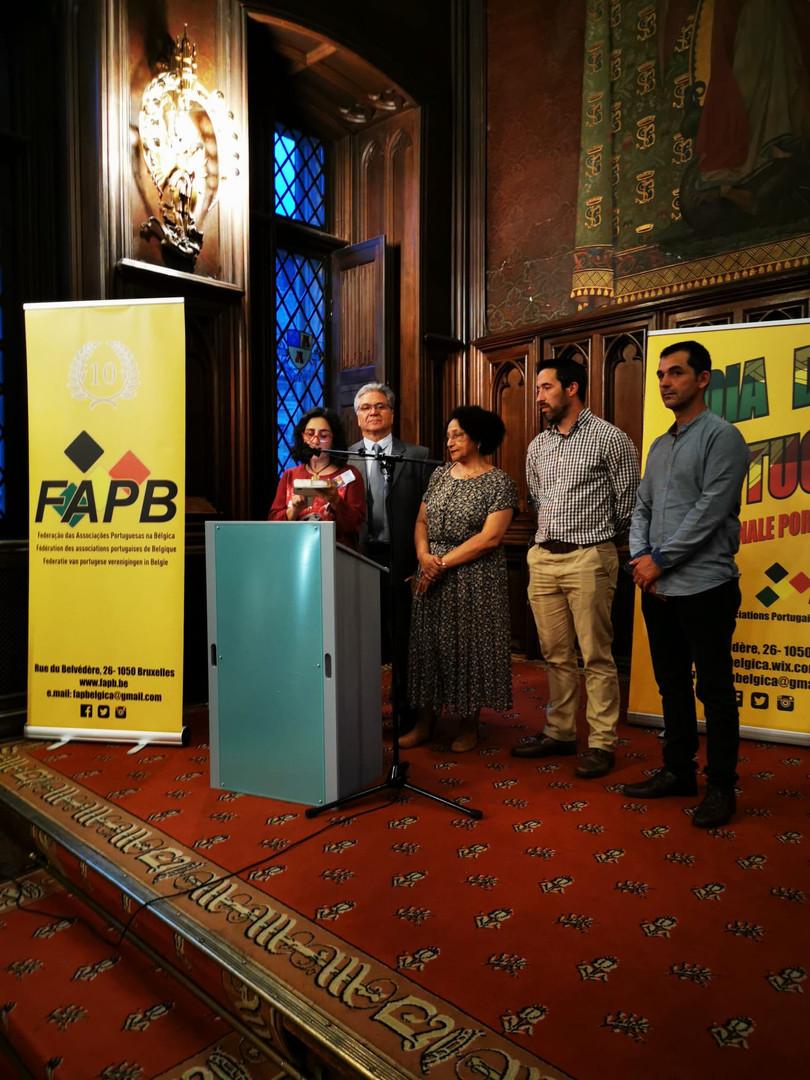 Antonio Gomes, le président de la FAPB, entouré par les autres membres du CA de la FAPB