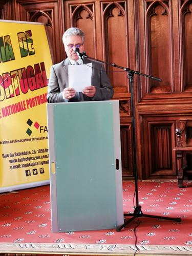 dans son discours, le président de la FAPB évoque le travail de mobilisation citoyenne de la FAPB auprès de ses membres fédérés et du public portugais en général
