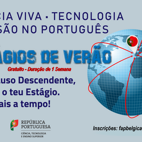 """Verão 2019 """"Oportunidades em Portugal também para Jovens LUDES LUsoDEScendentes"""""""