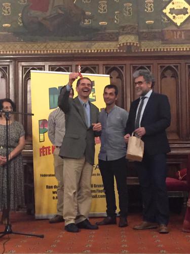 Le ministre MH a apprécié le clin d'oeil BD belge Hergé TINTIN ET LA LUNE