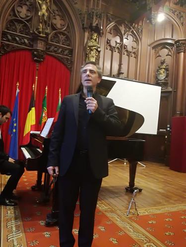 Bruno Belthoise raconte l'histoire des compositions choisis pour le concert