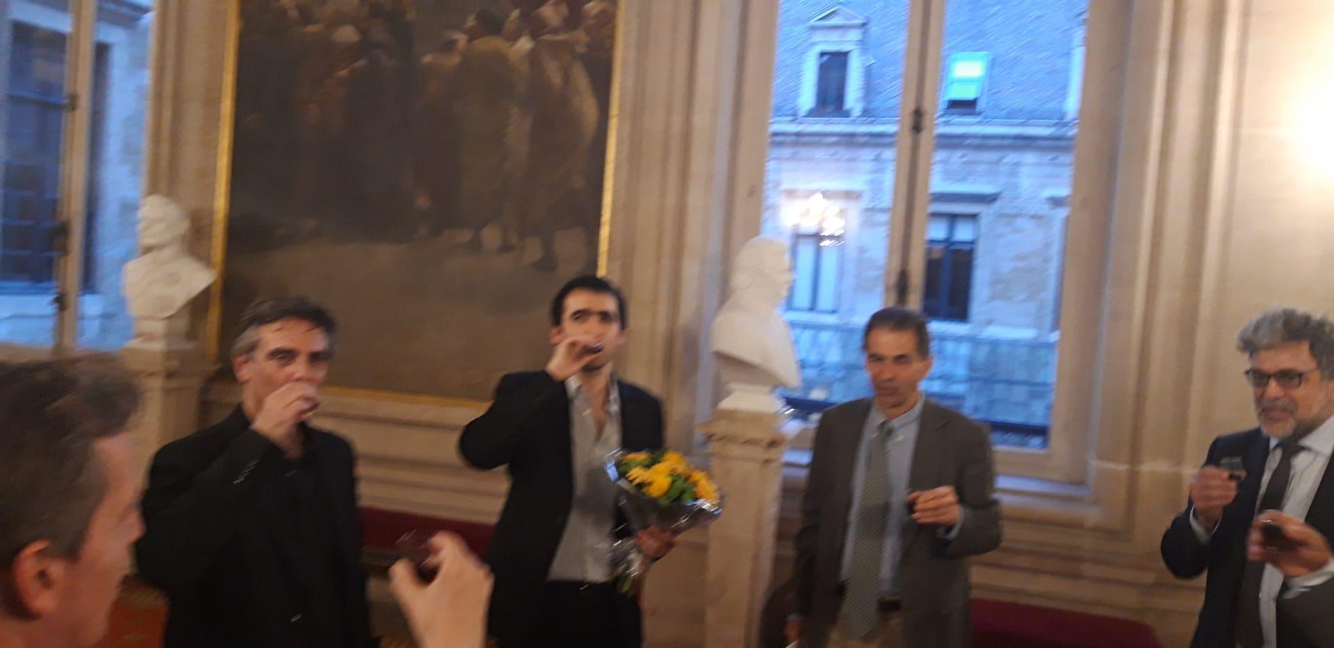 Un toast aux pianistes. Bravo Bruno Belthoise et João Costa Ferreira. Bem-hajam!