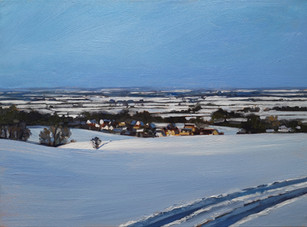 Winter view towards Shrivenham, Wiltshire.