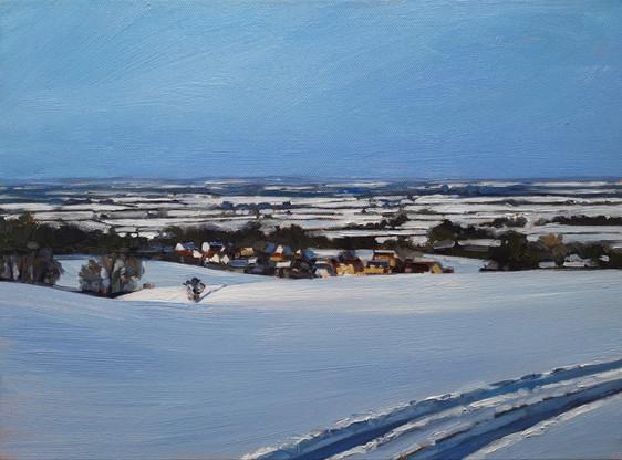 Winter view towards Shrivenham, Wiltshire.