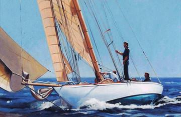Classic 10 metre sailing yacht 'Pesa'