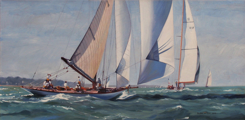 Fife designed classic yacht 'The Lady Anne' in the Solent