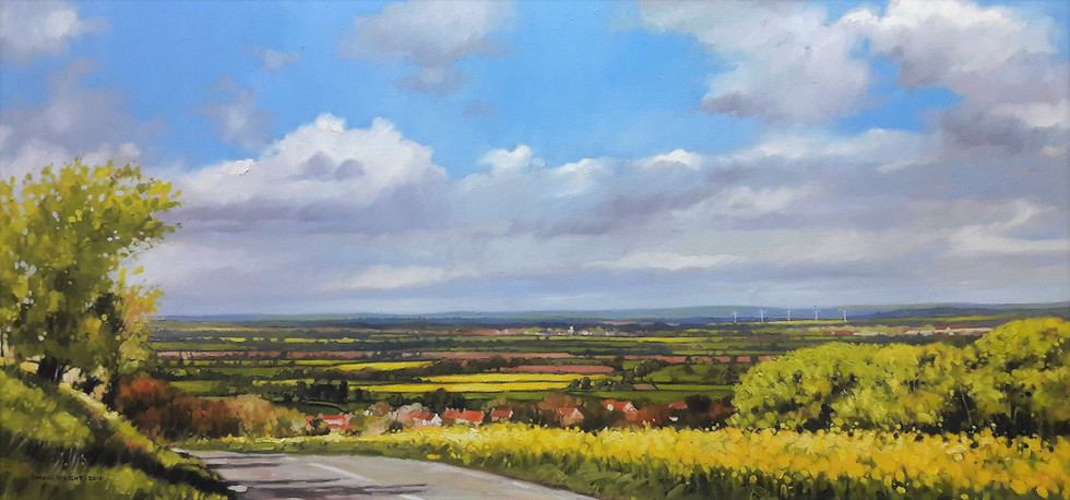Springtime in Wiltshire. The view over Ashbury from the Ridgeway.