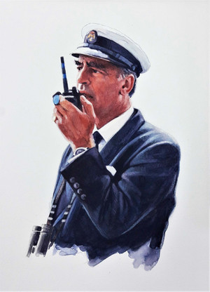 Simon van der Byl, race officer at the Royal Yacht Squadron, Cowes