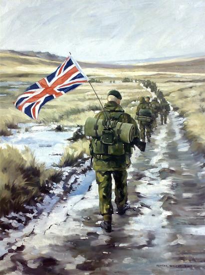 The Yomper, Falklands War.