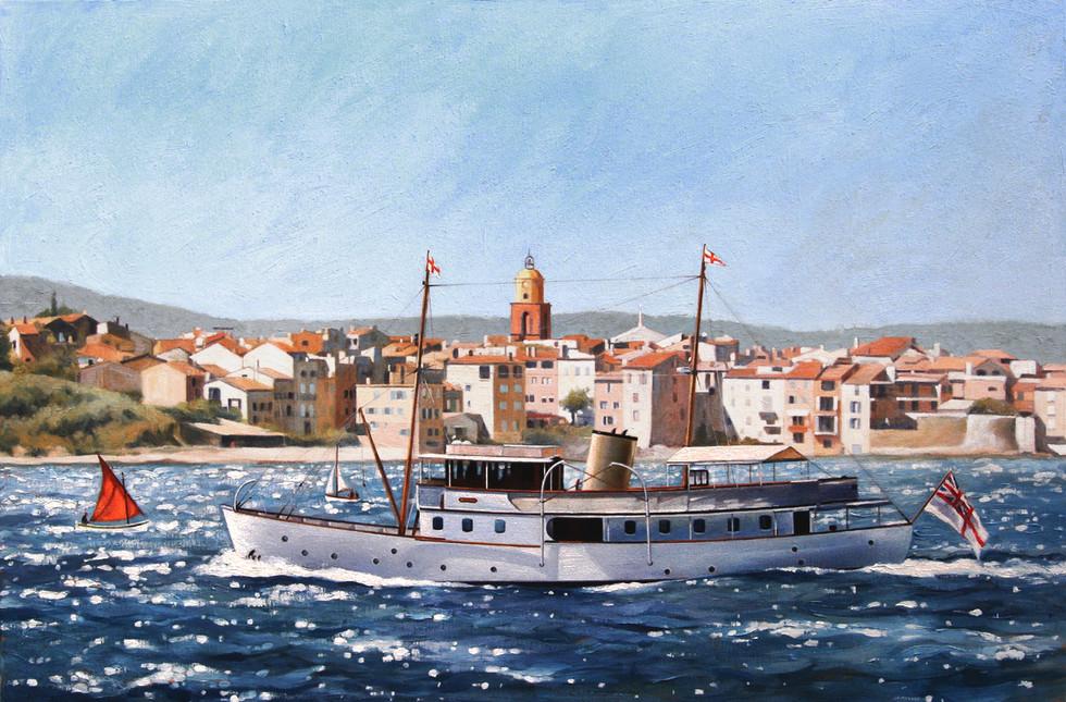 Dunkirk little ship 'Bluebird' off St Tropez