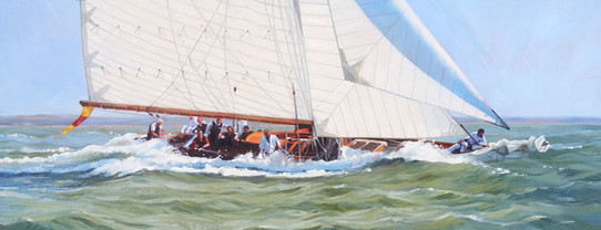 Kelpie racing in the Solent