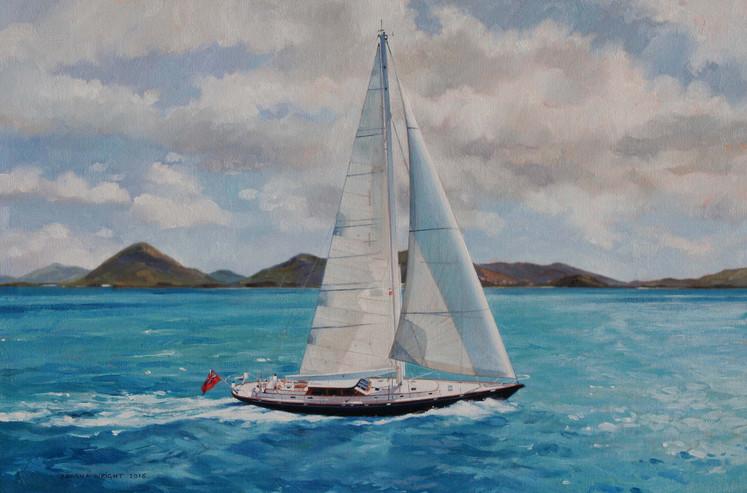 Aeolian sailing in the Caribbean