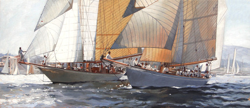 aSunshine and Moonbeam of Fife at the Voiles de St Tropez.