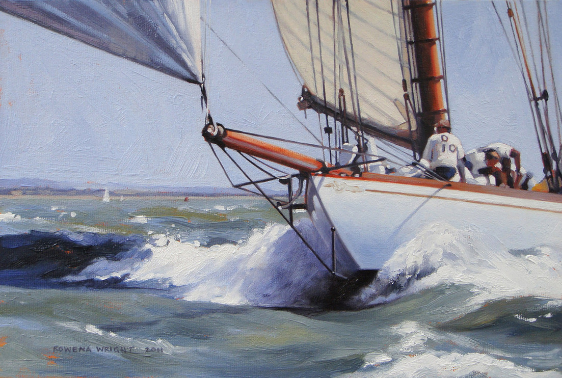 Lady Anne racing in the Solent