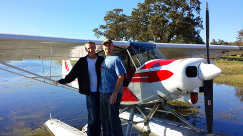 Float Plane with Son