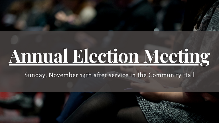 Annual Election Meeting