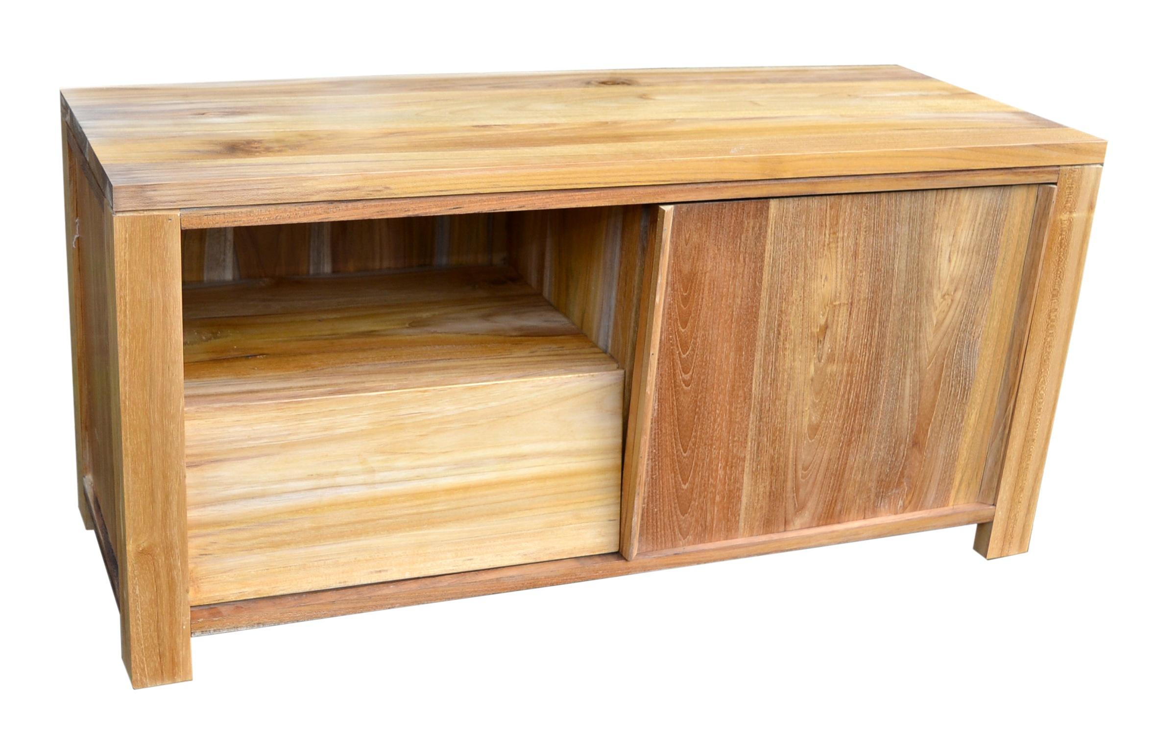 Mueble TV de Teca Maciza Rústico