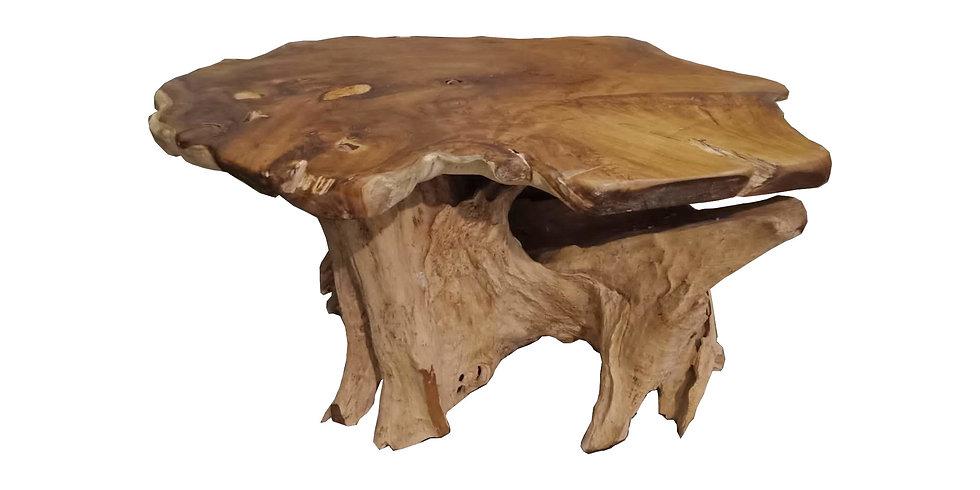 Mesa Comedor Rústica Raíz Teca Oval