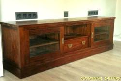 Mueble Televisor Colonial Madera Teca