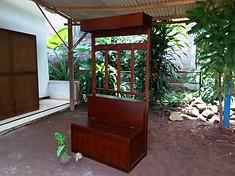 Mueble Recibidor Colonial  Perchero Baul