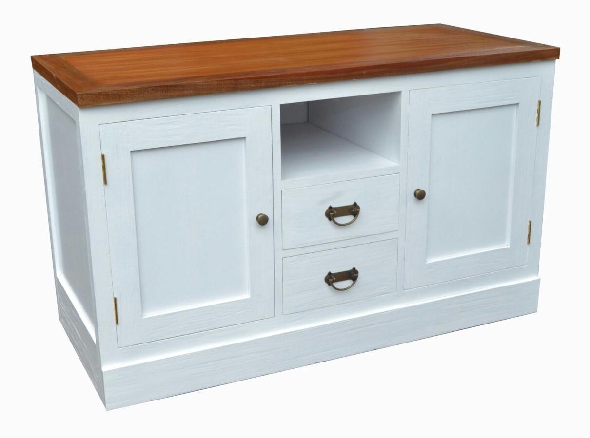Mueble TV Colonial Blanco