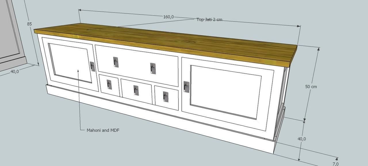 Diseño Mueble Tv Colonial