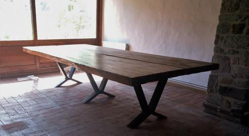 Mesa Comedor Rústica Industrial