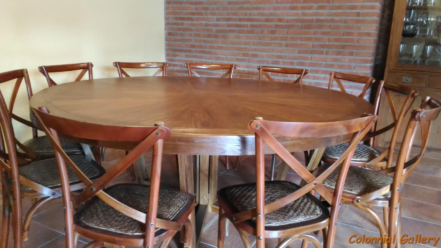 002 Conjunto colonial teka mesa y sillas paris 12 comensales.jpg