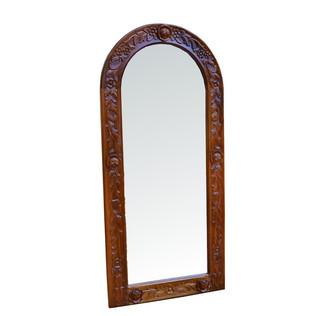 Espejo Vintage Marron Tallado