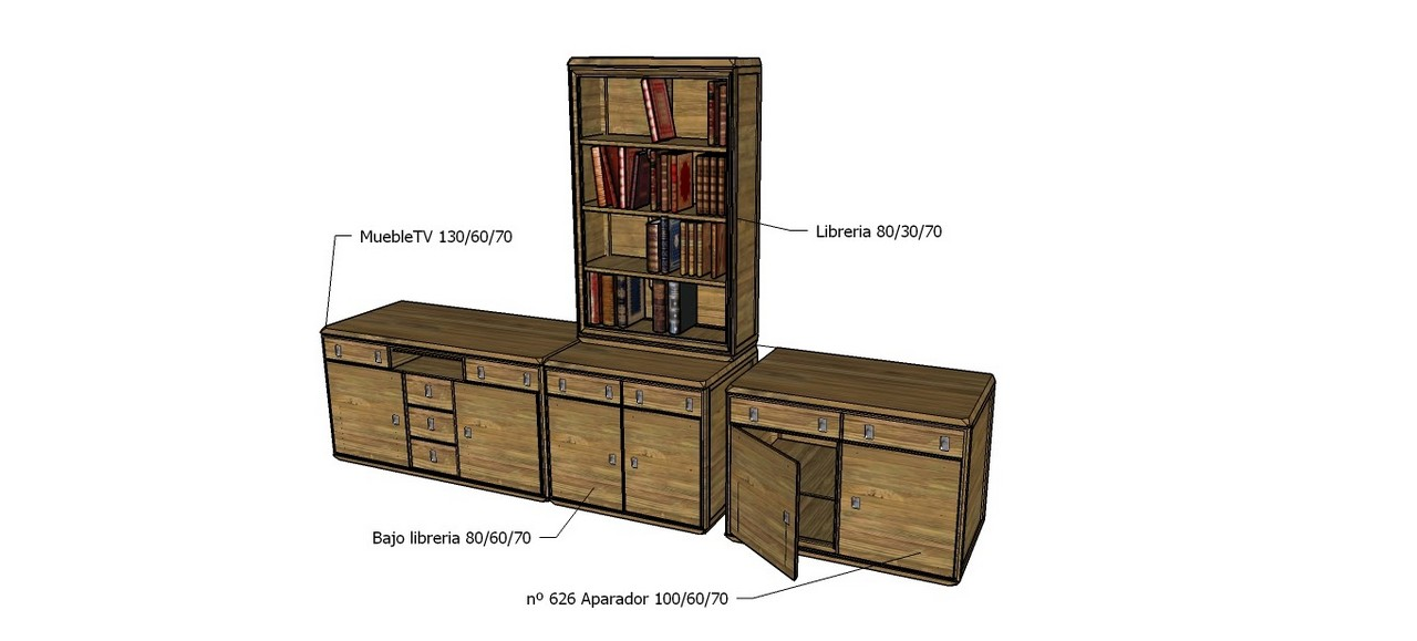 Diseño Conjunto Mueble Televisor