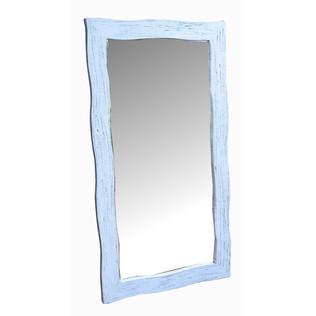 Espejo Rústico Ondas Blanco