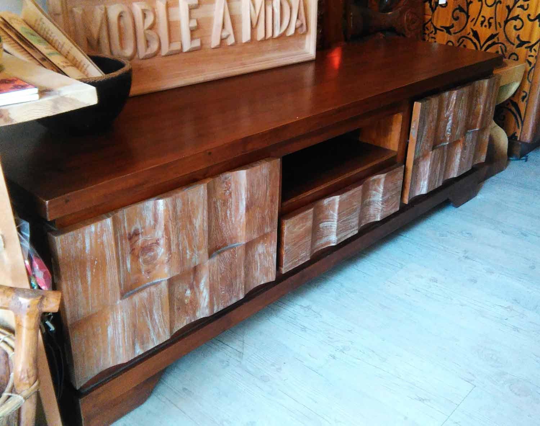Mueble Tv de Teca Bicolor