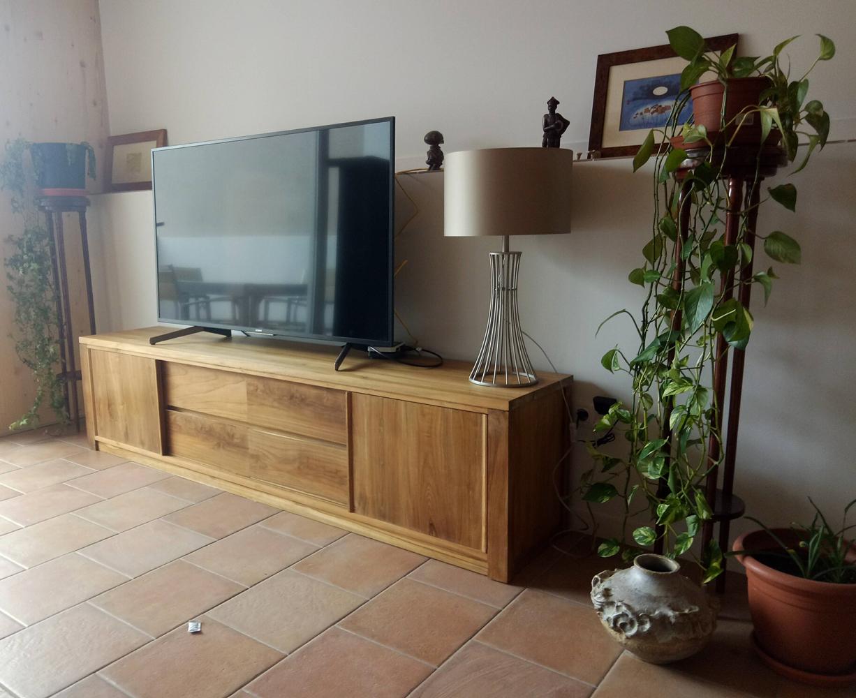 Mueble Televisor Macizo de Teca