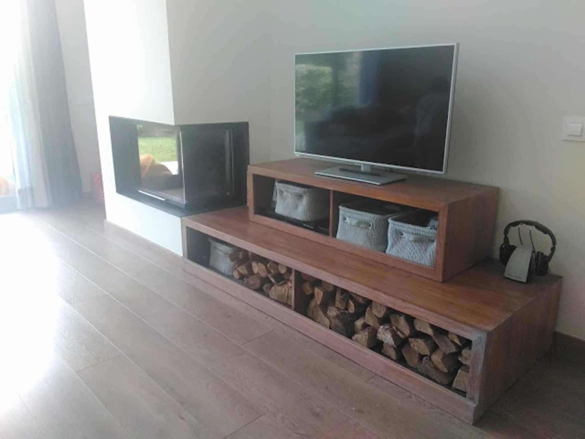 Mueble Tv y Leñero a Medida