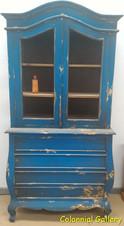 Mueble colonial vintage pintado vitrina azul 3cj.jpg