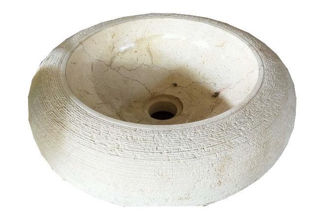 Lavabo Rústico Redondo Piedra Onix