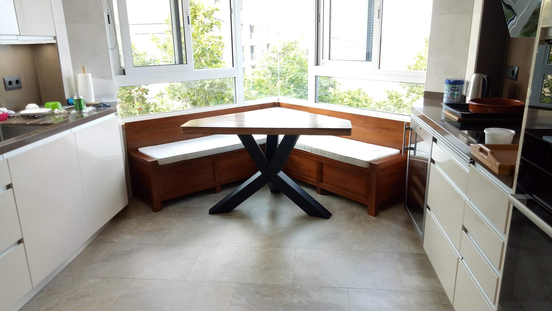 1805 Cocina Office Mesa Comedor y Banco