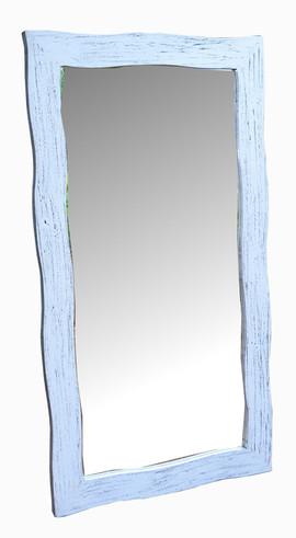 Espejo Colonial Ondas Blanco