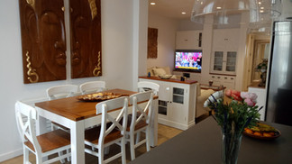 1711 Comedor Salon Colonial Blanco Combi