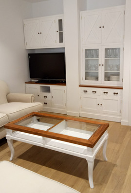 Conjunto Mueble TV Colonial Blanco R