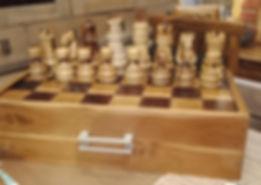 Juego de ajedrez clasico en madera