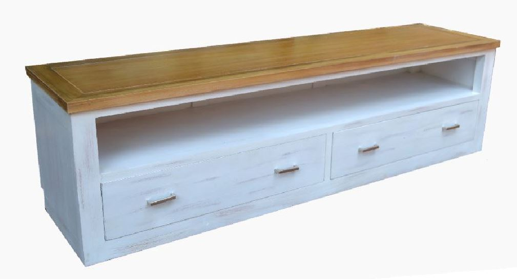 Mueble TV Colonial Blanco